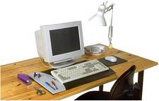 computer & table